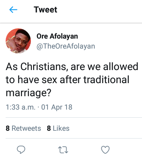 Lady gives hilarious response to a question about sex before marriage in church