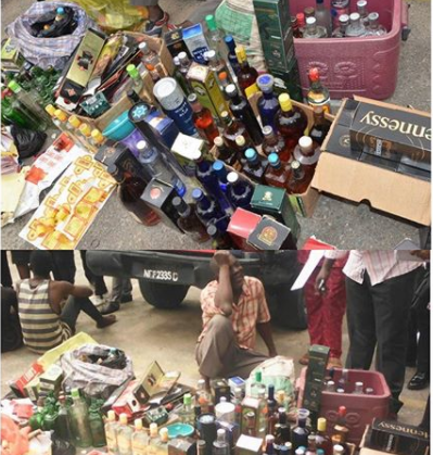 Lagos State Police arrest manufacturer of fake wines and adulterated?whiskeys (Photo)