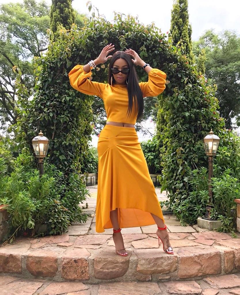 Bonang Matheba is all shade of stunning in new photos