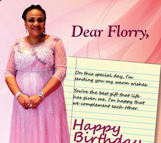 """""""Dear Florry, you are the best gift life has given me"""" - Governor Ajimobi celebrates wife on her birthday"""