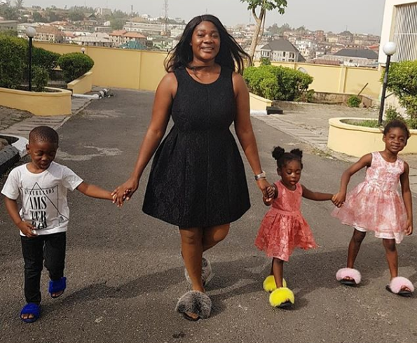 Lovely photos of actress Mercy Johnson-Okojie and her kids