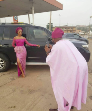 Banky W and Adesua Etomi step out for Gaberiel Afolayan