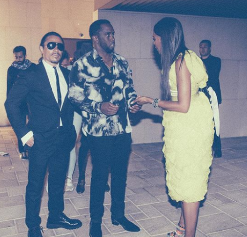 Photos: Diddy meets Naomi Campbell during his?first ever visit to Dubai