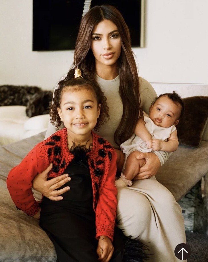 Kim Kardashian poses for first ever photo with her cute daughters, North and Chicago