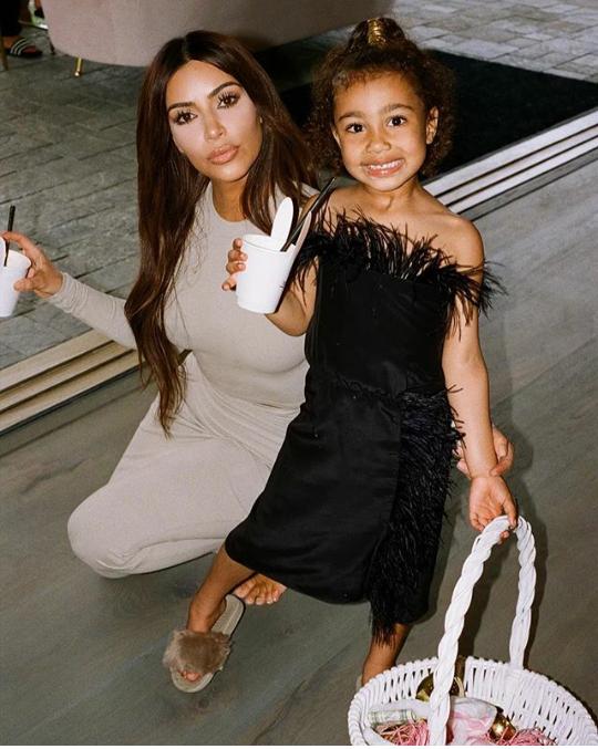 Kim Kardashian releases more adorable photos of herself, Kanye, and their 3 kids