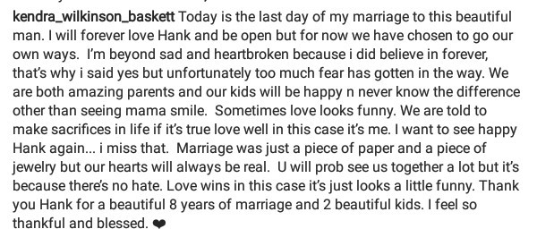 """""""Thank you Hank for a beautiful 8 years of marriage and 2 beautiful kids""""- Former Playboy model, Kendra Wilkinson confirms divorce in emotional Instagram post"""