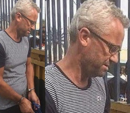 Peter Nielsen, husband of murdered Nigerian artiste, Alizee has been arrested and remanded at the Ikoyi prison (Photo)