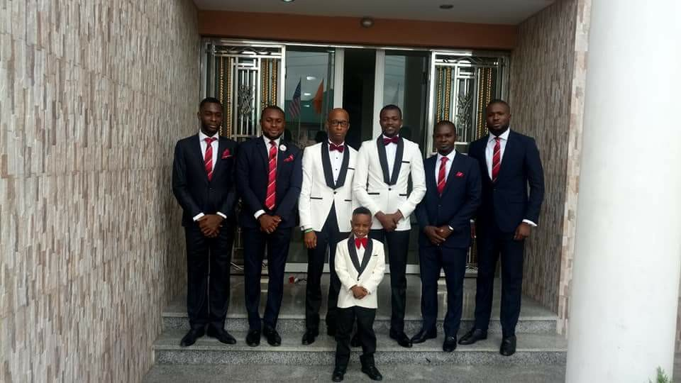 Akwa Ibom state House of Assembly speaker, Onofiok Luke, serves as best man at wedding of his Chief Press Secretary(photos)
