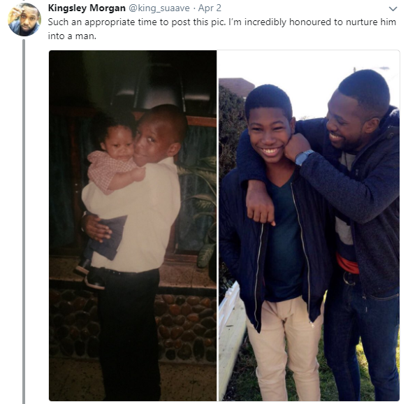 Aww! Twitter user narrates how he made sure his younger brother