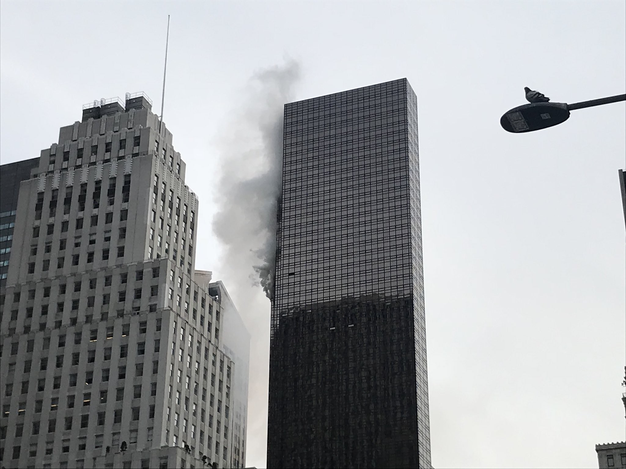 Fire breaks out at Trump Tower (photos)