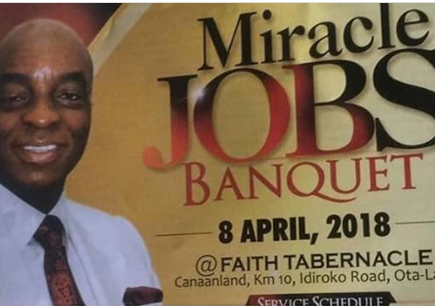 """Freeze and Wale Gates criticize Faith Tabernacle and Pastor Oyedepo for a church program titled """"Miracle Jobs Banquet"""""""