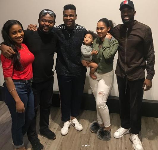 Photos: DBanj, his wife and son Daniel III attend private screening of John Boyega