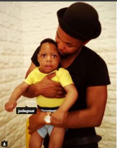 Actor, David Nnaji celebrates his son as he turns a year older (photo)