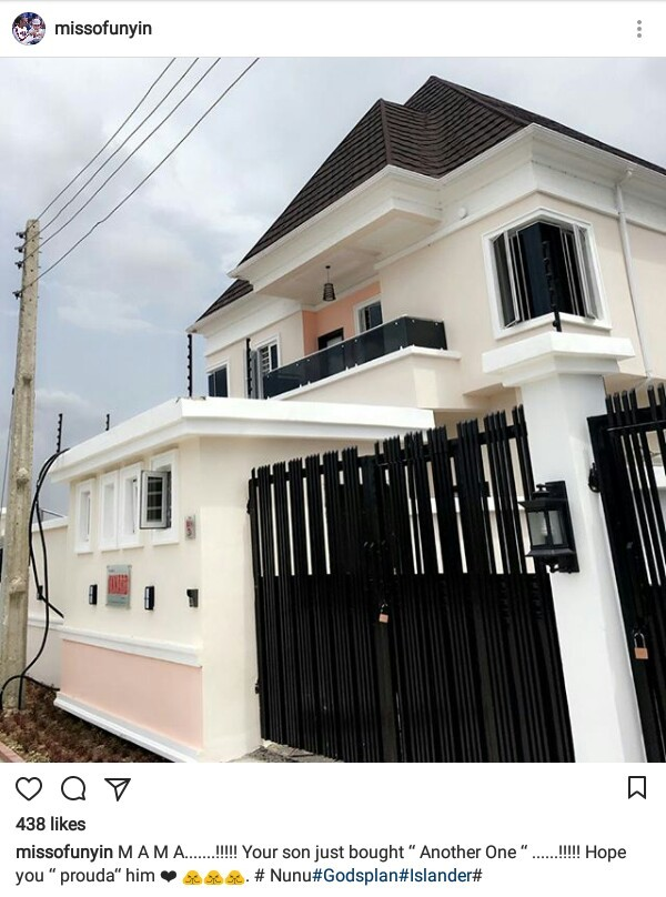 """""""Mama! Your son bought another one"""" - Young Nigerian man shows off his new house"""