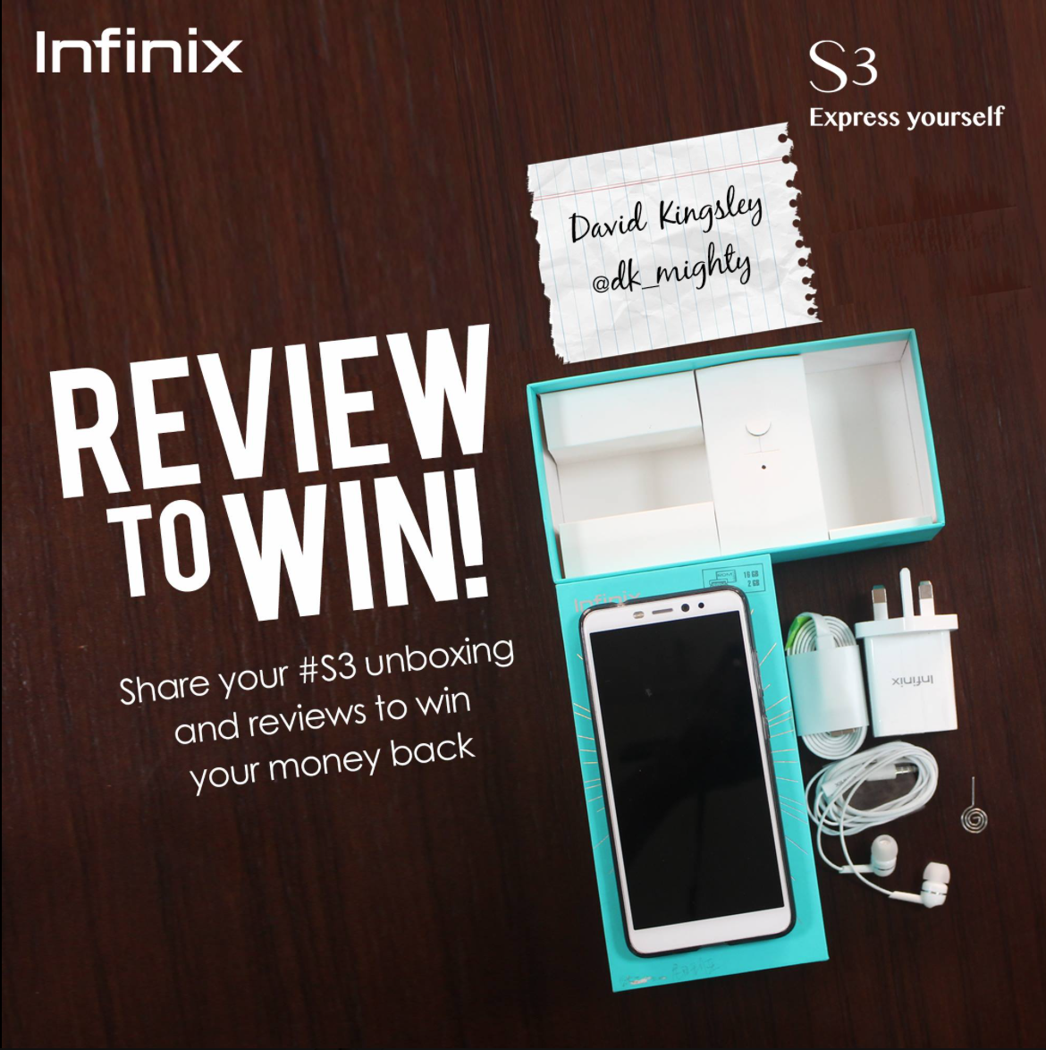 Express yourself with Infinix S3 ? Unbox, Review and WIN your money back