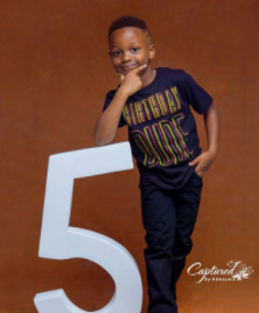 Paul and Anita Okoye celebrate their son, Andre on his 5th birthday