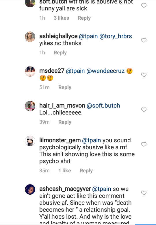T-Pain writes love note to his wife on IG but it