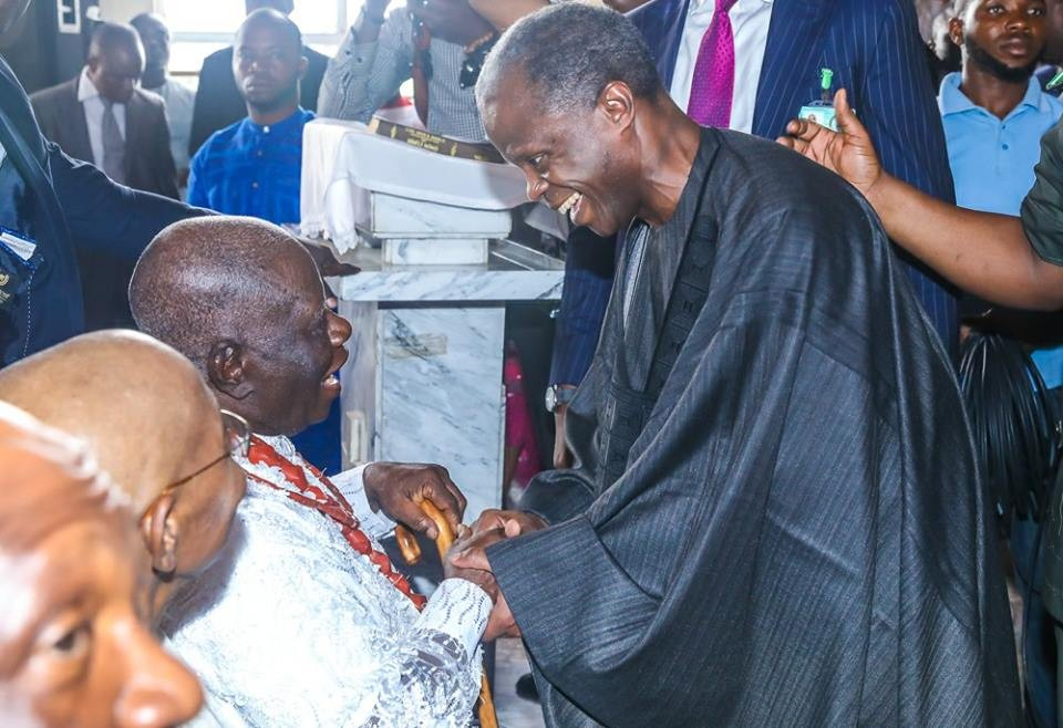 Photos: Osinbajo, Amosun others attend 90th birthday thanksgiving service of elder statesman, Ayo Adebanjo