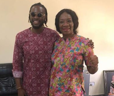 Lovely photo of BBNaija housemate, TeddyA and his mum