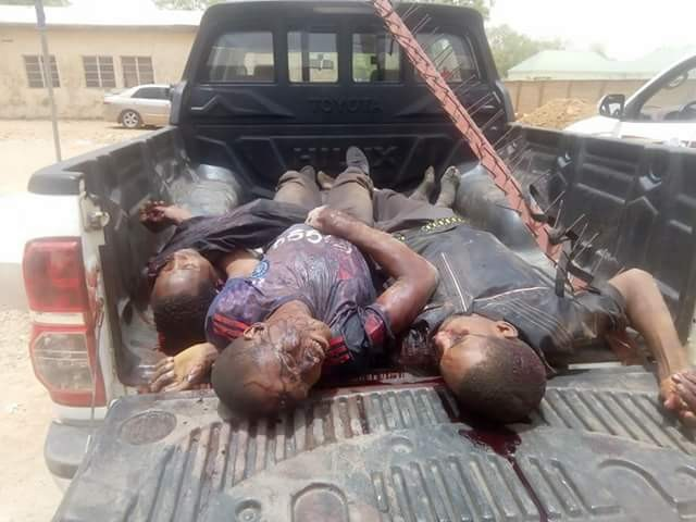 Photos: Police, renowned hunter kill three armed robbers during fierce shootout in Bauchi, recover arms