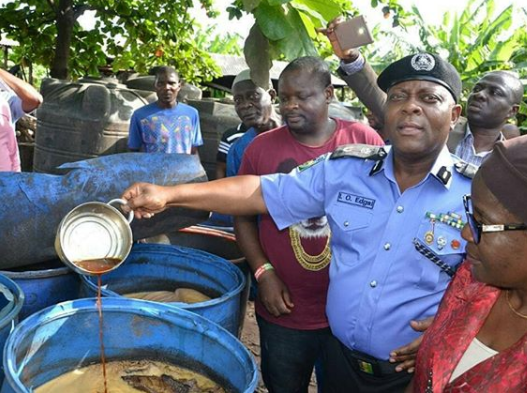 Photo:?Lagos Police command?after?arrest 5 people for operating illegal brewery in the state