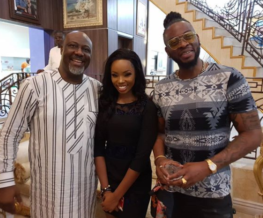 Photo: Teddy A and BamBam visit Senator Dino Melaye in Abuja