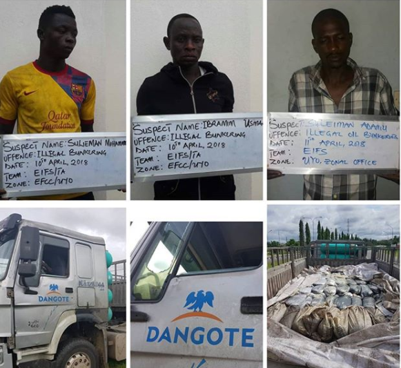 EFCC arraign three people for illegal dealing in Petroleum Products