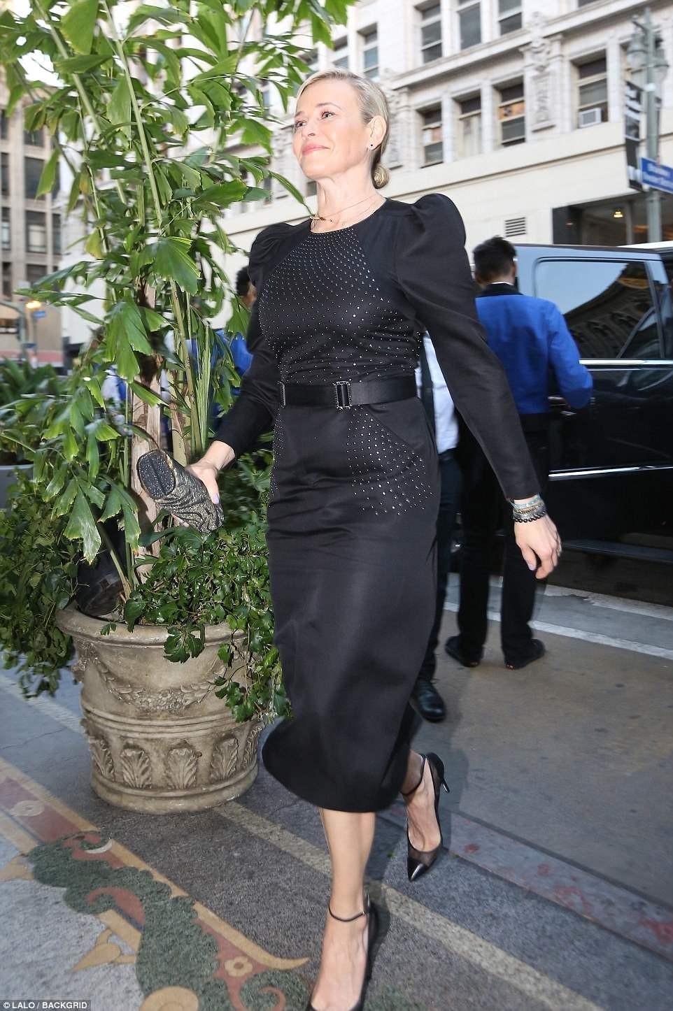 Actress Gwyneth Paltrow and Brad Falchuk hold