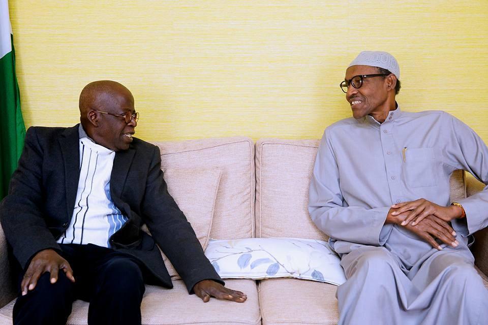 Photos: President Buhari receives Bola Tinubu in London