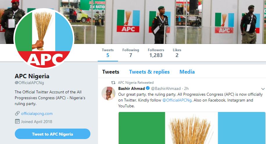 APC opens new Twitter, Facebook, Instagram, Youtube handles