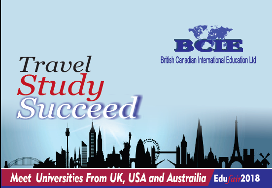 The BCIE Education Fair, bringing in top ranking universities from the Uk, USA and Australia