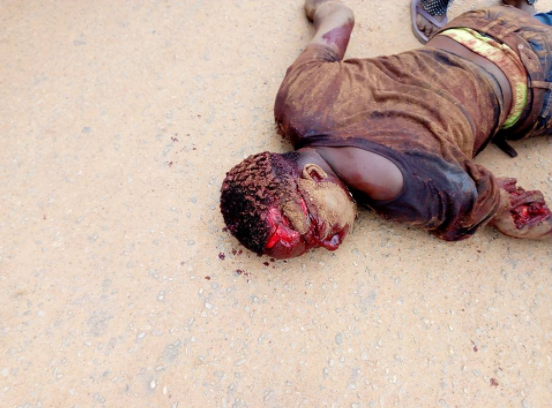 Man hacked to death by cultists following argument during a football match in Ogun state (graphic photos)
