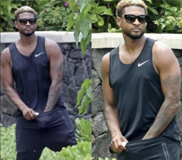 Photo of Usher seriously scratching his crotch amidst herpes infection surfaces?