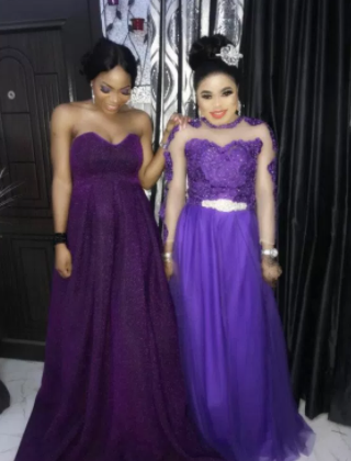 Bobrisky steps out for an event in an evening gown (photos)