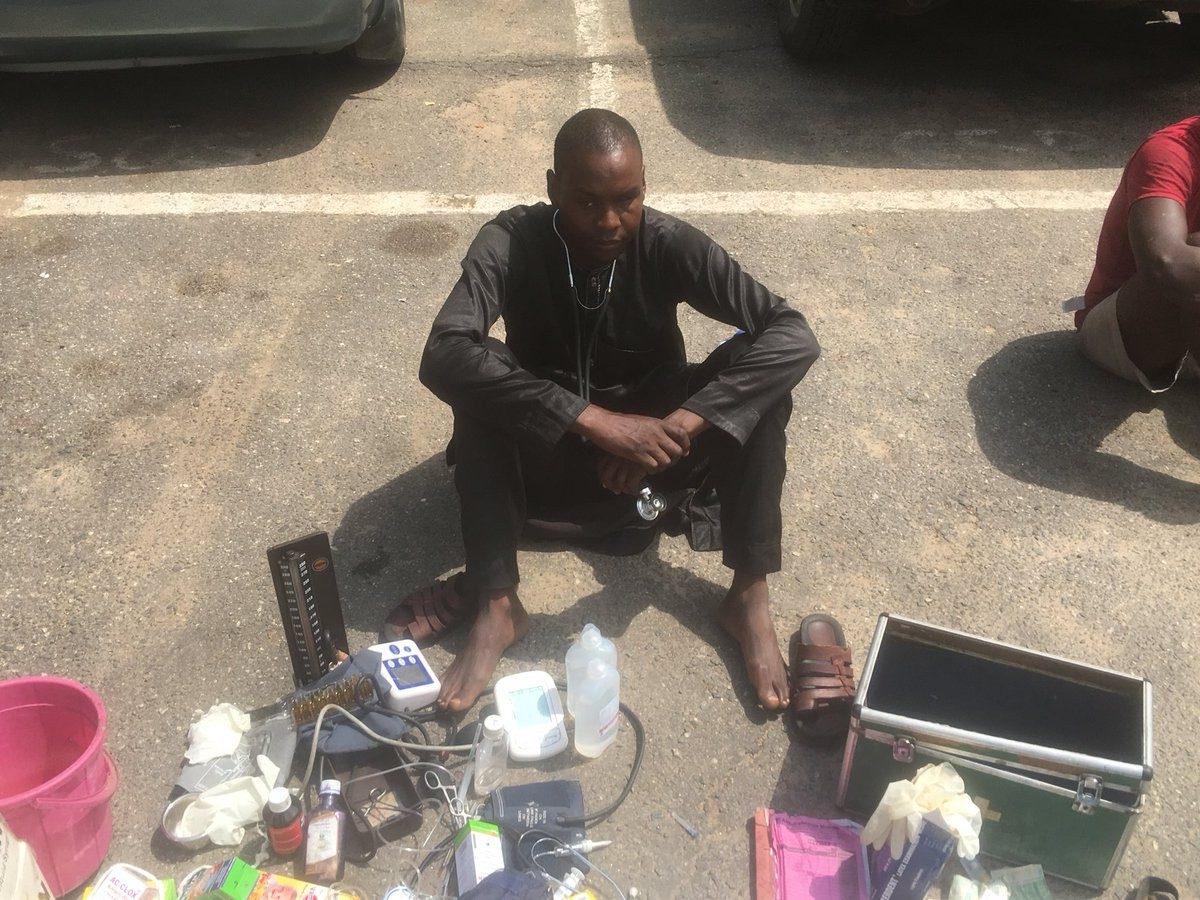 Photos: Lagos police arrest primary school dropout who has practiced as a medical doctor for four years