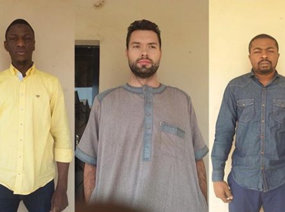 EFCC arrest Russian and Two Nigerians for duping people with