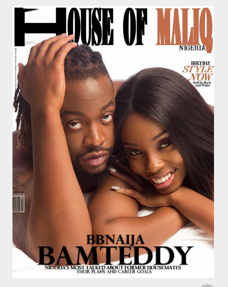 A seemingly naked Teddy A and Bam Bam cover House of Maliq magazine
