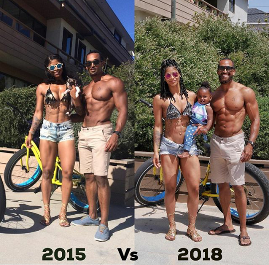 Cute couple share photos of their family three years apart, leaving people amazed at how much has changed and how much remains the same