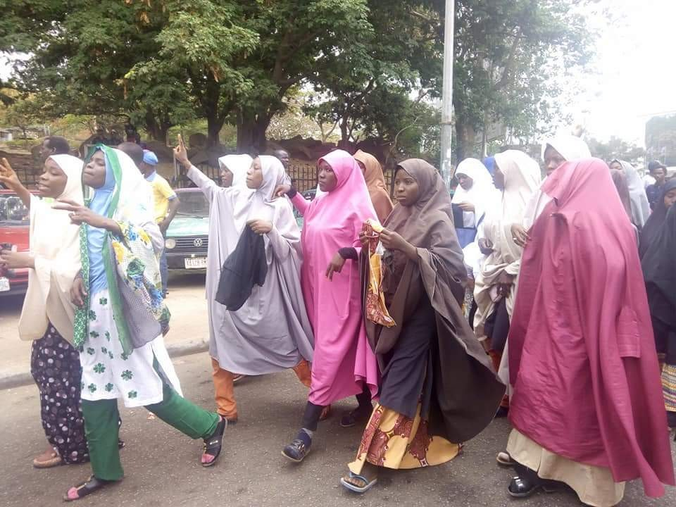Photos: Shiite members stage protest in Abuja