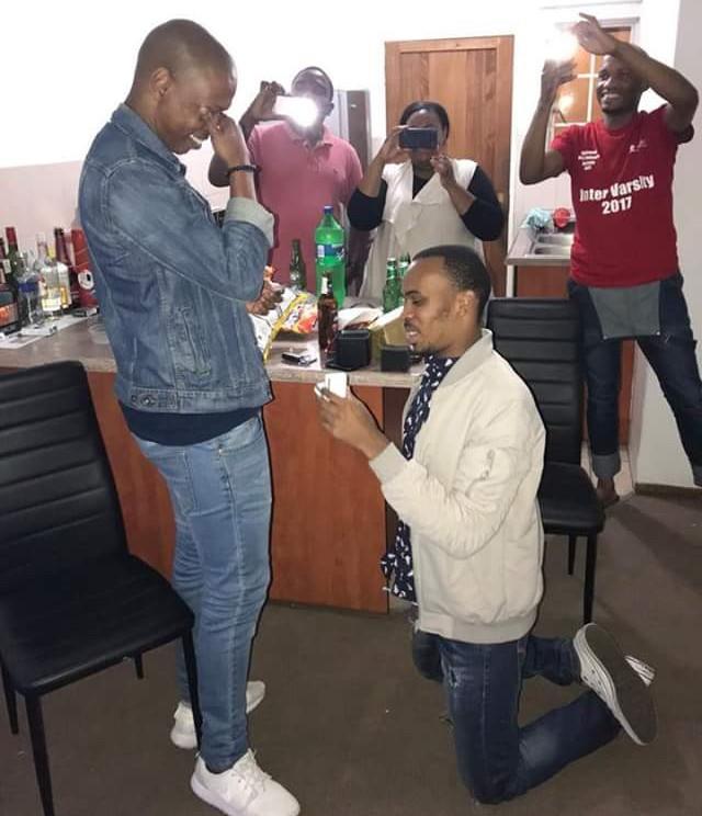 Gay Kenyan man proposes to his boyfriend (photos)