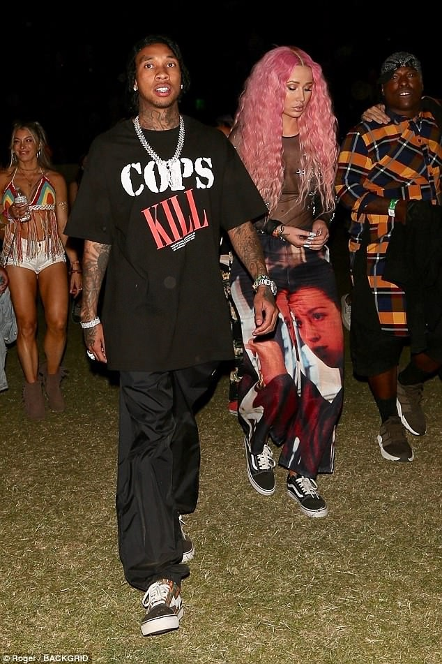 Tyga and Iggy Azalea continue to fuel dating rumors as they step out together again at Coachella ?(Photos)