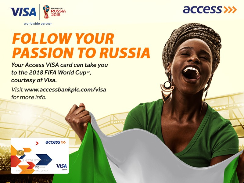 Access Bank is giving 5 people VISA tickets to 2018 FIFA World Cup