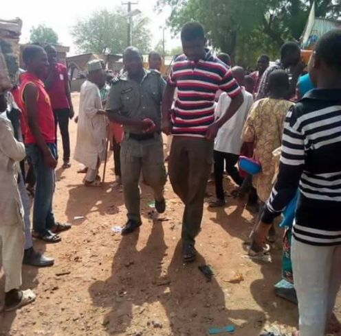 Young man arrested allegedly for keeping afro hair in Yobe state (photos)