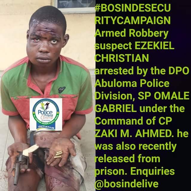 See the face of an armed robber arrested in Rivers state...lol