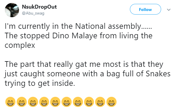 Did someone really try to sneak in a bag full of snakes into the National Assembly today?