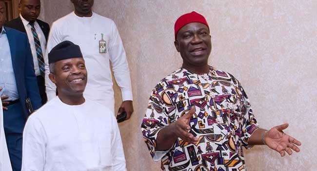 VP Yemi Osinbajo meets Ike Ekweremadu over NASS invasion
