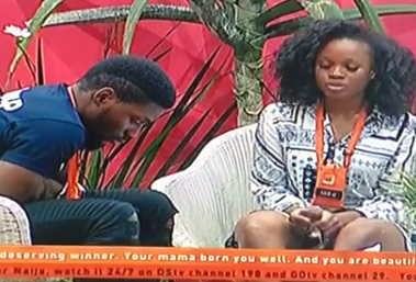 #BBNaija: Ceec apologizes to Tobi after she rained insults on him yesterday