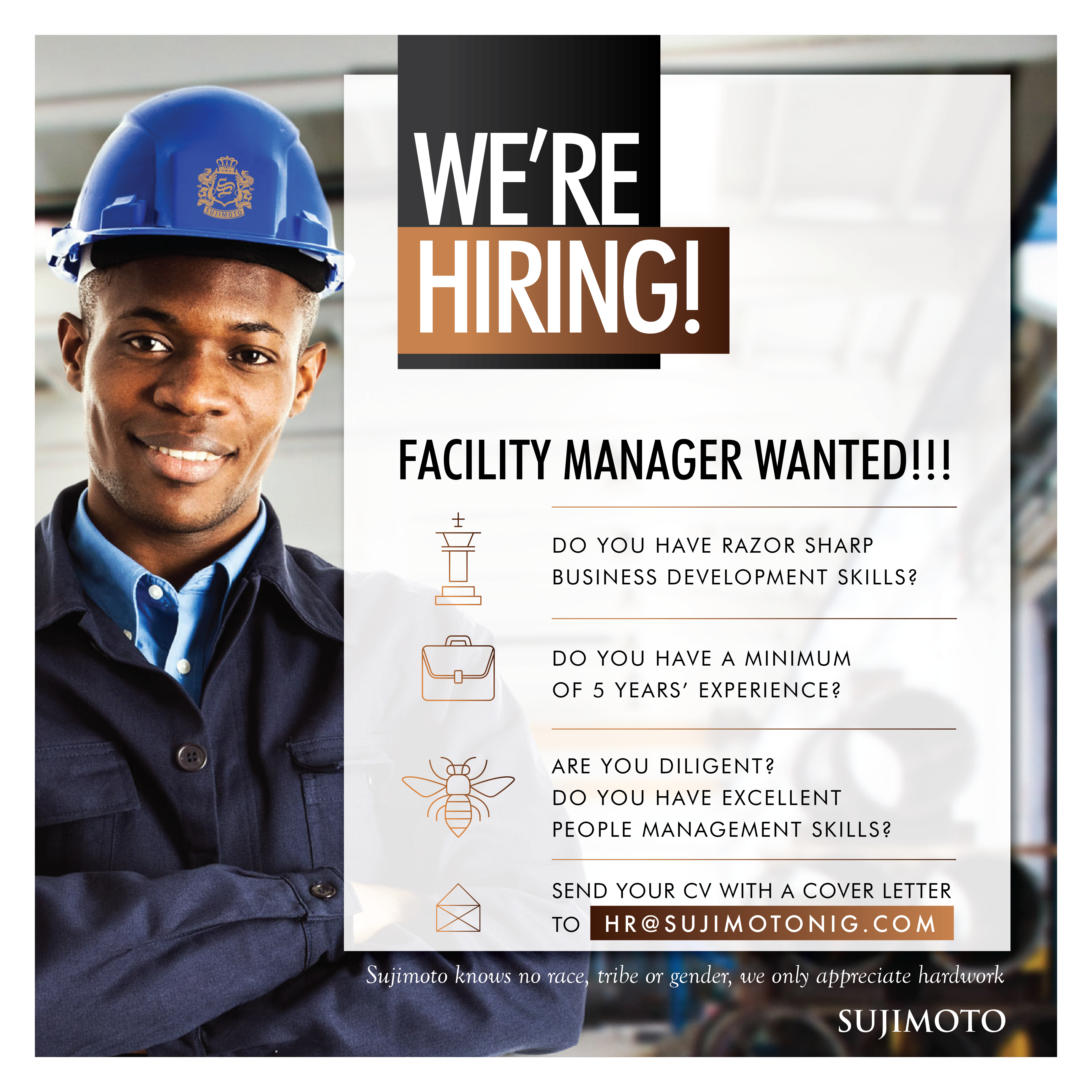 We are hunting for the best Facility Manager in the country!!