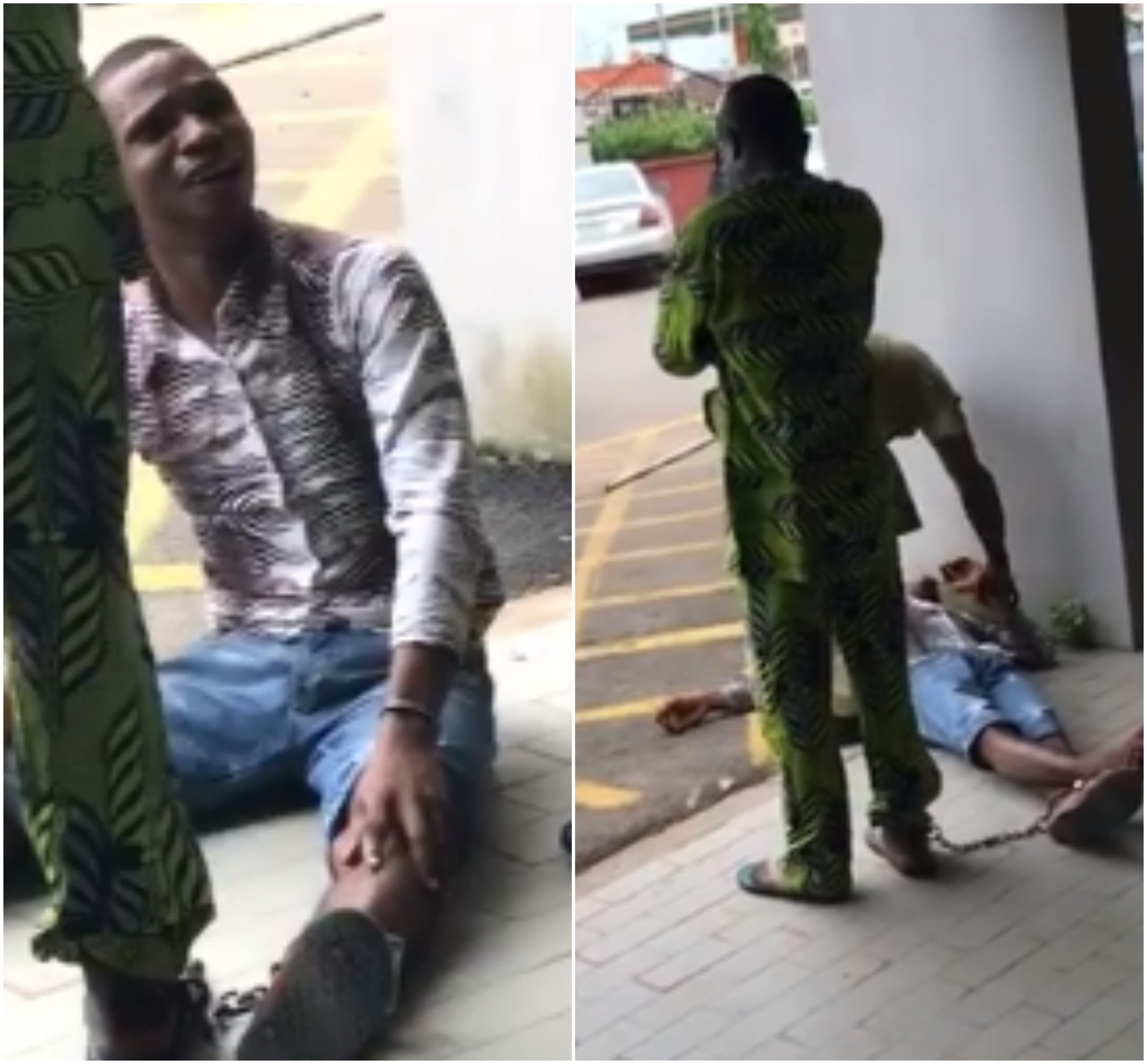 Photos: Suspected armed robber tries to commit suicide moments after judge sentenced him to death in Edo