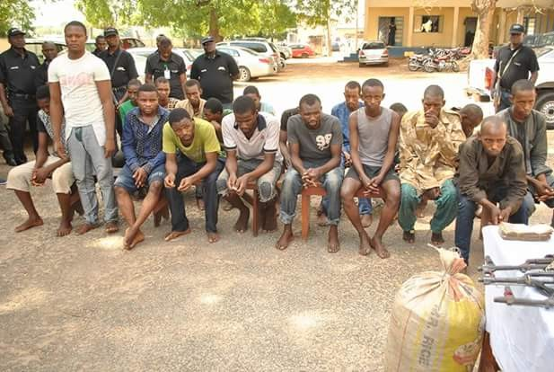 Police parade suspected kidnappers, robbers and man, 25, who raped 10-year-old girl in Niger State